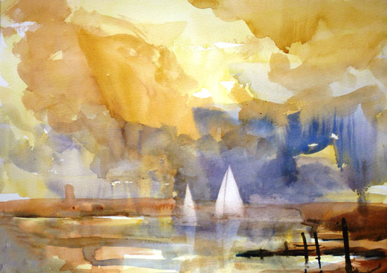 White sails after Turner