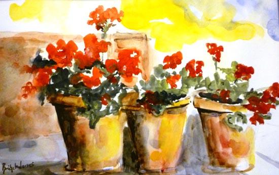 Bridget jones art - Care geraniums flourishing balcony porch ...