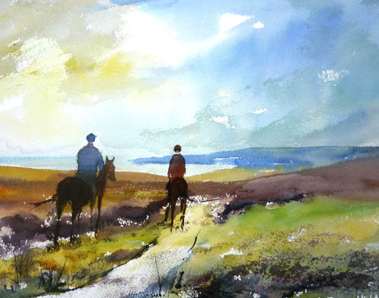 Horses on Exmoor