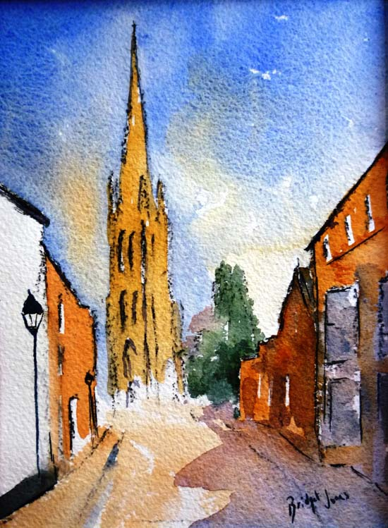 Westgate Louth watercolour small