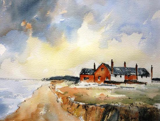 Cliff cottages, Weybourne